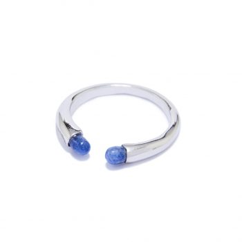 Rainy sõrmus valge roodium, sinine safiir