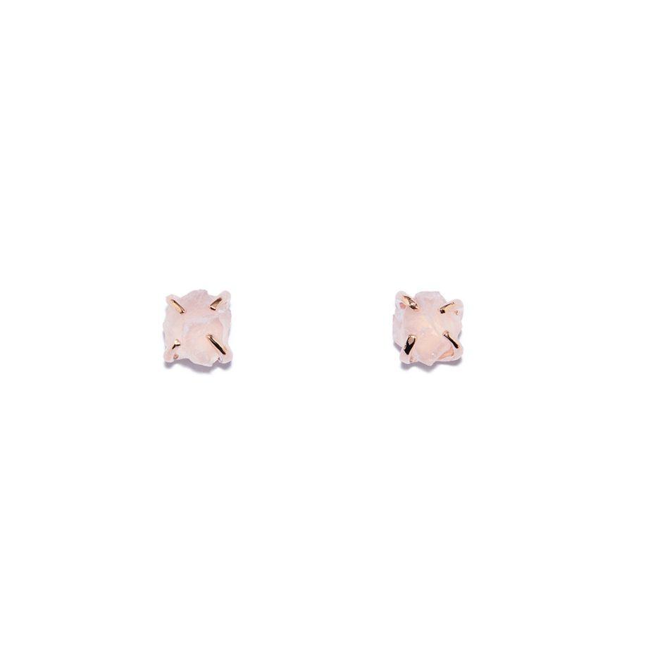 Kõrvarõngad, roosa kuld, roosa kvarts