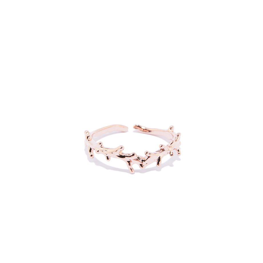 Roosa kuld, sõrmus, reguleeritav suurus, käsitööna valminud