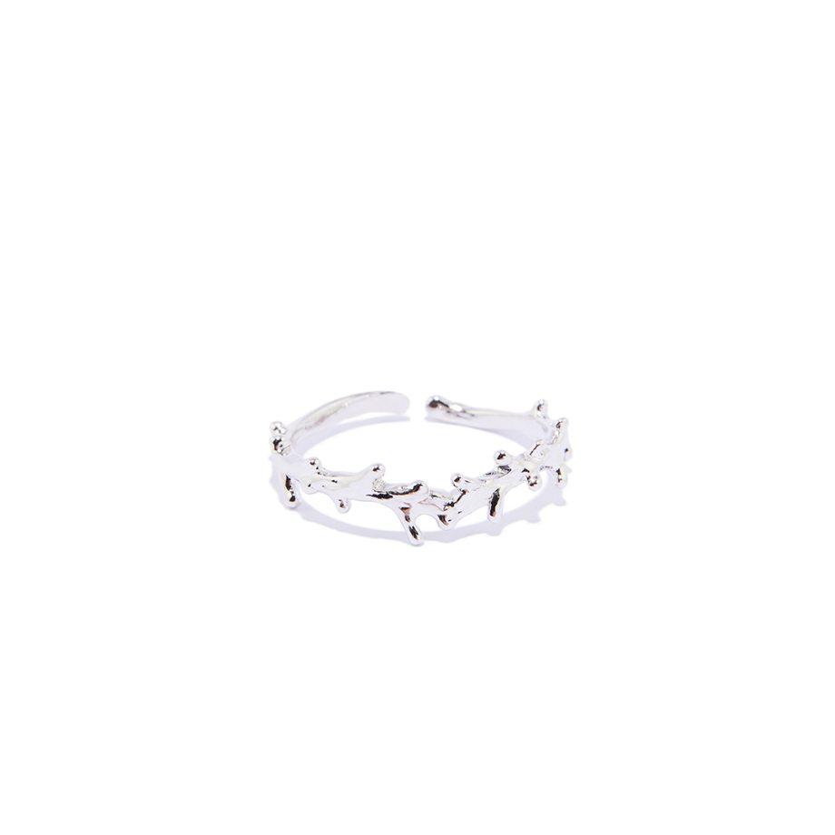 Sõrmus, reguleeritav suurus, hõbe sõrmus, valge roodium, minimalistlik sõrmus, disainer ehe