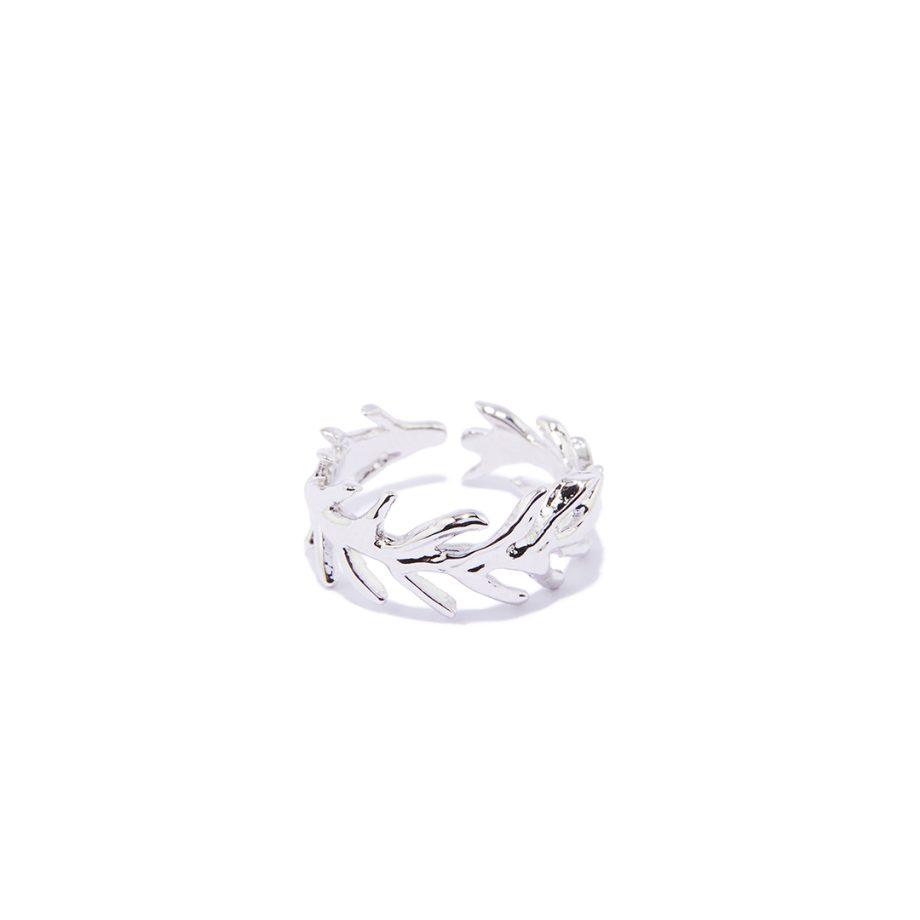Sõrmus valge roodiumiga, hõbesõrmus, reguleeritava suurusega sõrmus, käsitöö ehe